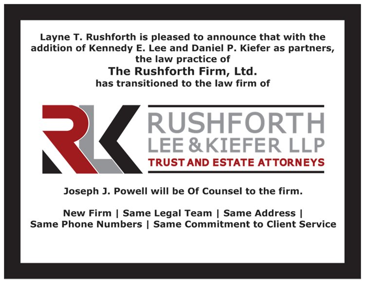 Transitioning to Rushforth Lee & Kiefer LLP